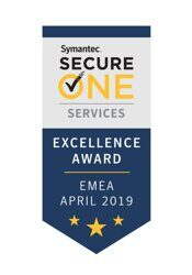 Награда Secure One Services Excellence Award in EMEA 2019, Symantec