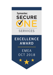 Награда Secure One Services Excellence Award in EMEA, Symantec